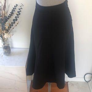 Wilfred High Waist Button Up Midi Skirt